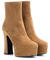 Saint Laurent Candy 80 Suede Platform Ankle Boots