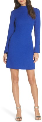 Fraiche by J Long Sleeve Mock Neck Mini Dress
