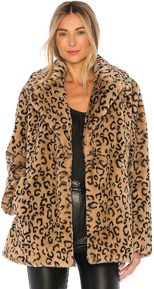 A.L.C. Stone Faux Fur Coat