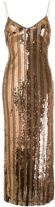 Galvan Sequin Slip Dress