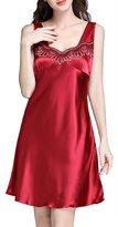 FLYCHEN Sexy Lingerie Women's Sleepwear Short Chemise Nightgown L