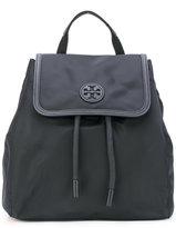 Tory Burch drawstring flap backpack - women - Nylon - One Size