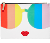 Alice + Olivia Rainbow Stacey Face Pouch