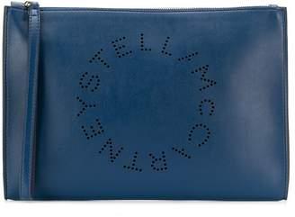 Stella McCartney large Stella logo clutch
