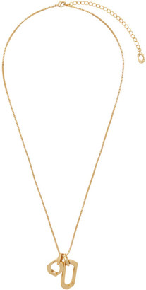 Numbering Gold 938 Box Chain Necklace