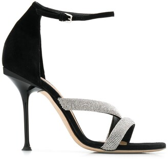 Sergio Rossi embellished stiletto sandals