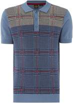 Merc Men's Short Sleeve Knitted Check Polo