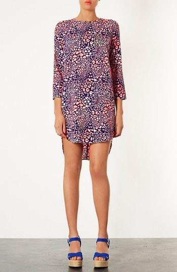Topshop Animal Print Tunic Dress