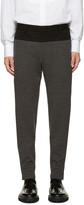 Wooyoungmi Black & Grey Wool Jersey Trousers