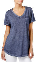 Style And Co. V-Neck Burnout Pocket Tee