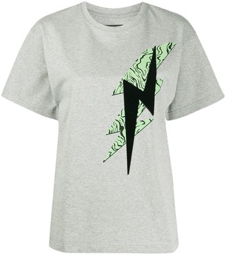 Isabel Marant lightening bolt print crew neck T-shirt