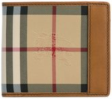 Burberry house check small wallet - men - Leather/Nylon - One Size