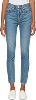 RE/DONE Re-done Blue Originals High-rise Ankle Crop Stretch Jeans