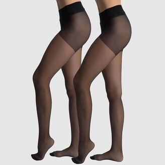 Dim Pack of 2 Diam's 22 Denier Sheer Voile Tights, Made in France