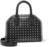 Stella McCartney The Falabella Box Studded Faux Leather Shoulder Bag - Black