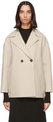 Harris Wharf London Off-White Pressed Wool Jacket