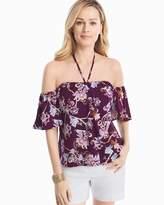 White House Black Market Off-the-Shoulder Floral Printed Top