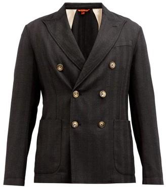 Barena Doria Double-breasted Wool-blend Blazer - Dark Grey