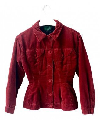 Jean Paul Gaultier Red Velvet Leather jackets