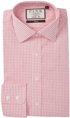 Thomas Pink Romberg Athletic Fit Checkered Dress Shirt