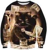 Pink Queen Unisex Printed Crew Neck Pullover Sweatshirts Sweater L