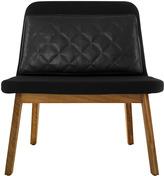 Houseology addinterior LEAN Chair Black Wool - Natural Oak Legs & Dark Brown Cushion