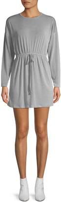 Missguided Tie-Waist Long-Sleeve Dress