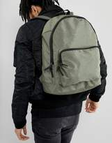 Asos Backpack In Khaki Texture