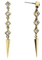 Nicole Miller Pyramid Spike Drop Earrings