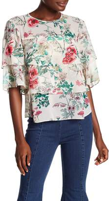 Rachel Roy Floral Print Tiered Blouse (Regular & Plus Size)
