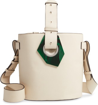 Ganni Leather Bucket Bag