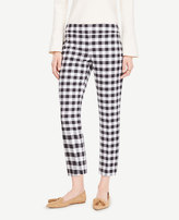 Ann Taylor The Petite Crop Pant in Gingham - Devin Fit