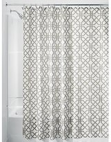 "InterDesign Trellis Fabric Shower Curtain - Stall 54"" x 78"", Stone Gray/White"