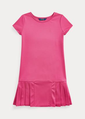 Ralph Lauren Pleated-Skirt Tee Dress