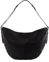 Halston Leather Hobo Bag, Black