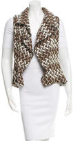 Alexis Patterned Shawl Collar Vest