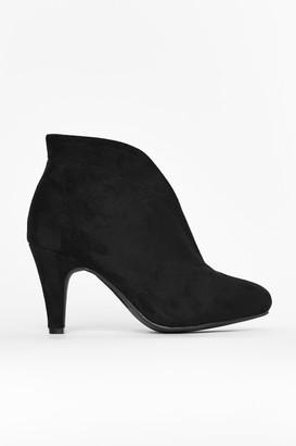 Wallis **Black Elastic Shoe Boot