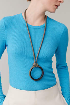 Cos PADDED LEATHER ROPE NECKLACE
