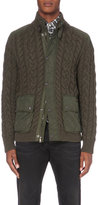 Polo Ralph Lauren Cable-knit Wool And Cashmere-blend Quilted Shell Jacket
