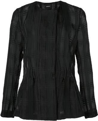 Akris textured check jacket