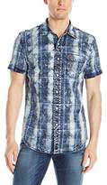True Religion Men's TBD SS Plaid