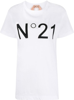 No.21 embroidered logo T-shirt