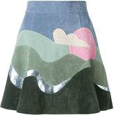 Marc Jacobs colour-block skirt - women - Calf Leather/Silk - 4