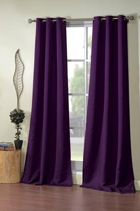 Duck River Textile Steyna Solid Blackout Curtain Set - Plum