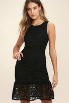LuLu*s With You Tonight Black Lace Dress