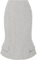 Tom Ford Asymmetric Wool-blend Skirt - Gray