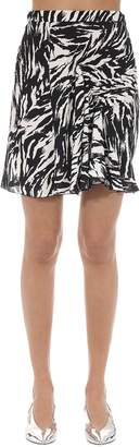 N°21 Animalier Printed Crepe Mini Skirt