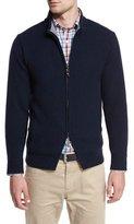 Peter Millar Hawthorne Cotton-Cashmere Full-Zip Cardigan, Barchetta Blue