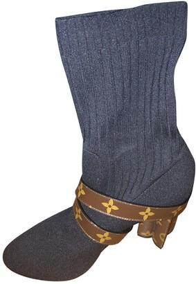 Louis Vuitton Silhouette Black Cloth Ankle boots