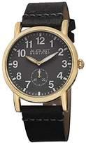 August Steiner Women's AS8110YG Swiss Quartz Gold-tone Grey Leather Strap Watch